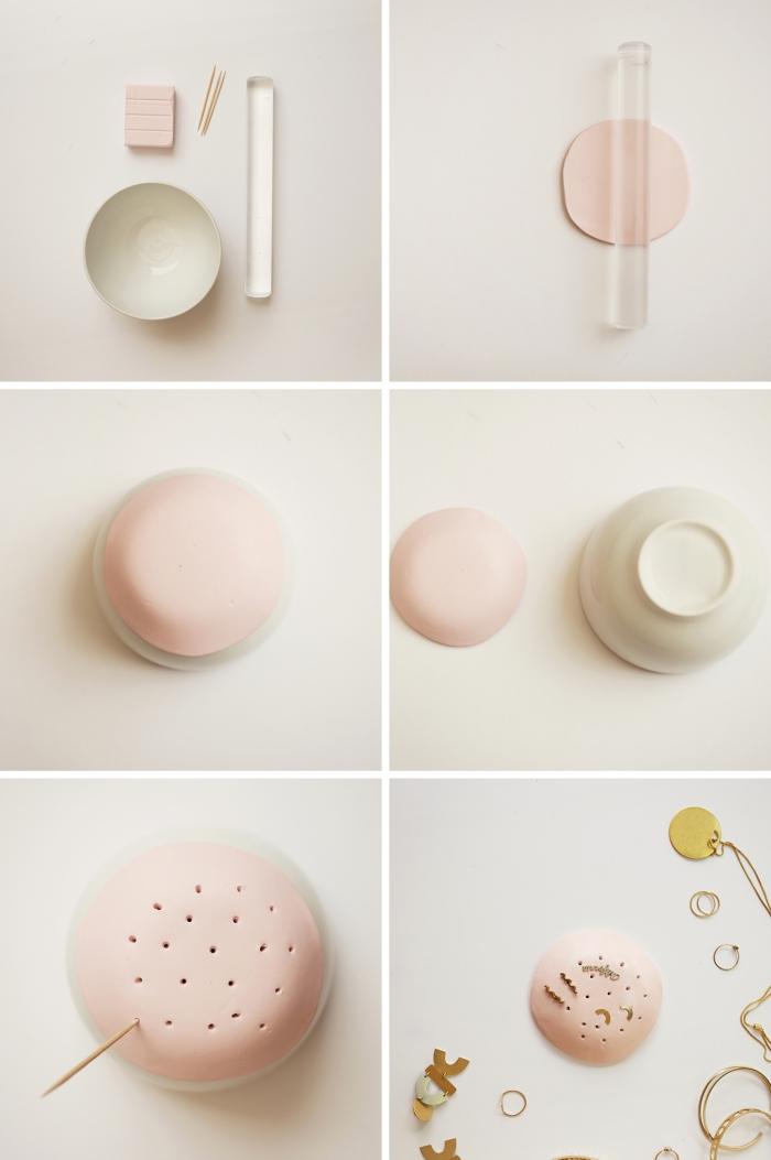 étapes à suivre pour réaliser un porte bijoux original, DIY organisateur pour boucles d'oreilles en couleurs pastel