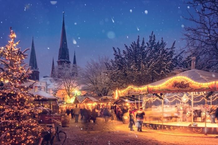 quelle image de pere noel ou décoration festive pour fond d'écran ordinateur 2019 pour les fêtes de fin d'année
