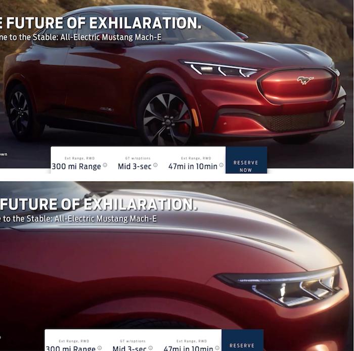 Avant sa présentation du 17 novembre, les premières de la Ford Mustang Mach-E sont révélées sur le net