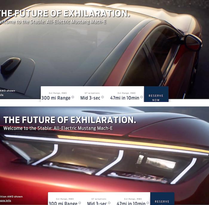 Alors qu'elle sera présentée ce 17 novembre à LA, les premières images de la Mustang Mach-E électrique dévoilées