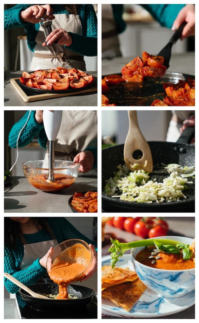 velouté de tomate simple à préaper comme recette légère d été avec celeri et oignons