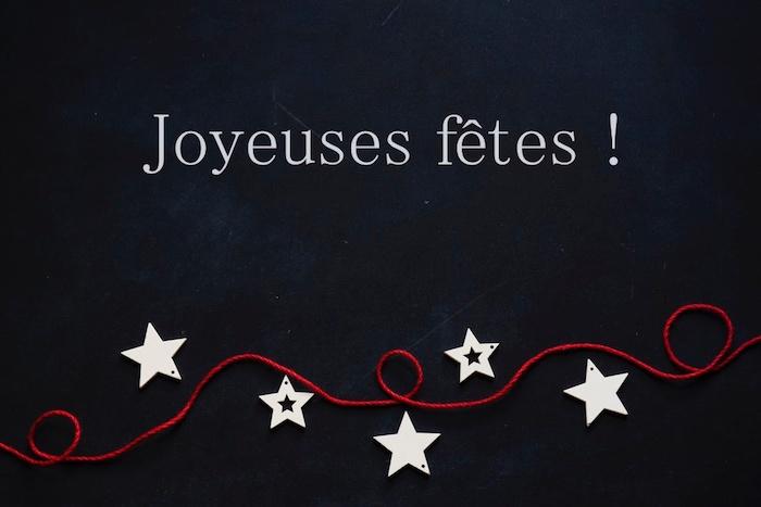 Fond noir, simple carte de voeux, belle image joyeuses fêtes, photo joyeux noel