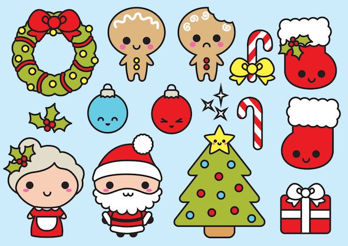 Kawaii Pour Dessin De Noel Facile A Faire Kawaii