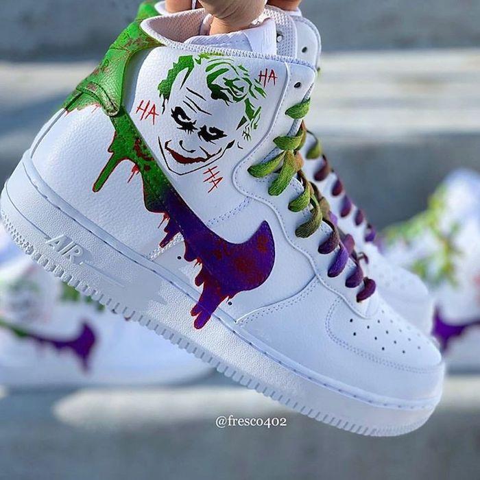 peinture chaussure nike
