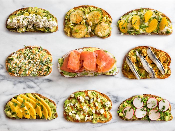 Toast apero avec légumes et avocat, aperitif noel, choix de pain de noël et comment le garnir