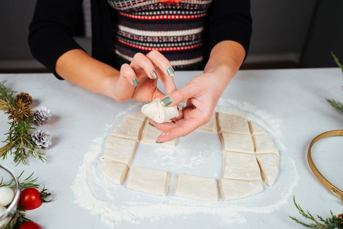 créer une poche pour la boule de mozzarella, faire un apéritif original ou comment faire du pain de fete simple