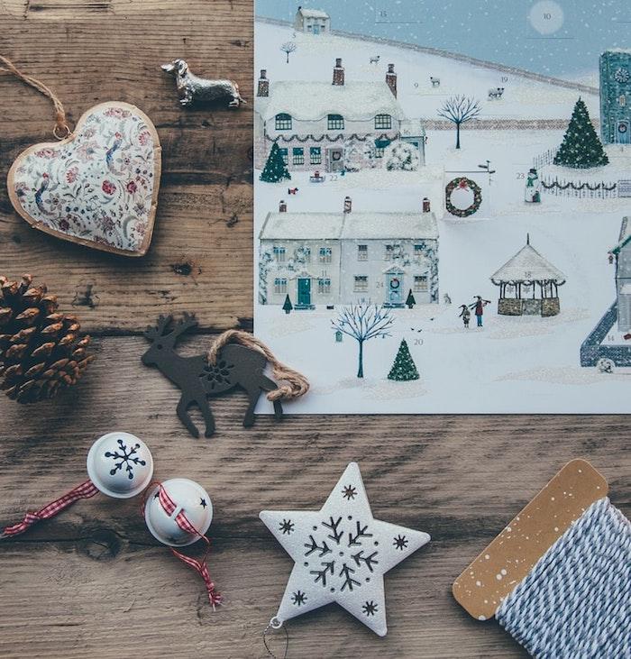 Ornements pour faire une jolie déco festive, voeux de noel, image joyeux noël, bonne fete a toi