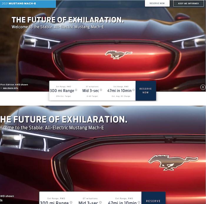 Le site autoblog a dévoilé les premières images de la Ford Mustang Mach-E électrique