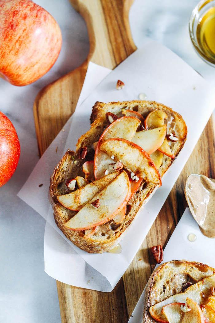 Pain sucré avec pommes toast apero, aperitif noel, canapé facile à préparer soi-même