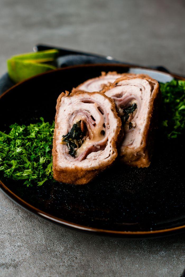 repas du soir familial, que faire avec blanc de poulet, recette cordon bleu facile aux épinards