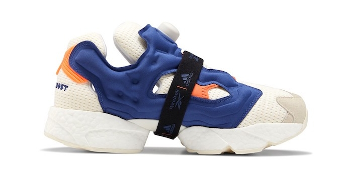 "Reebok et Adidas collaborent pour sortir la sneaker Instapump Fury Boost version ""Prototype"" bleue"
