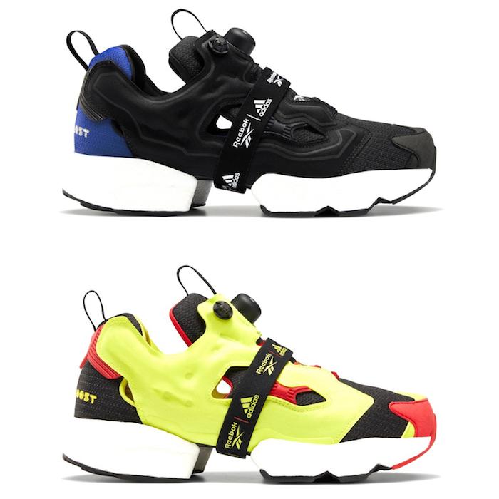 Pump X Boost, Reebok et Adidas célèbrent les 25 ans de la Instapump Fury avec une sneaker Fury Boost