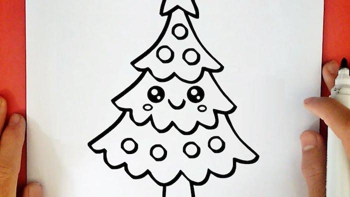 Dessin De Noel Facile Kawaii