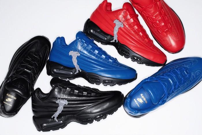 Nike et Supreme annonce le lancement de la sneaker de luxe en cuir Supreme x Nike Air Max 95 Lux