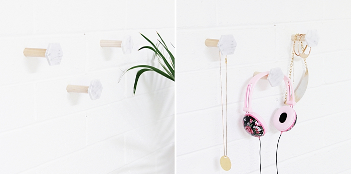 exemple comment organiser ses bijoux dans sa chambre moderne, idée rangement mural facile à faire soi-même