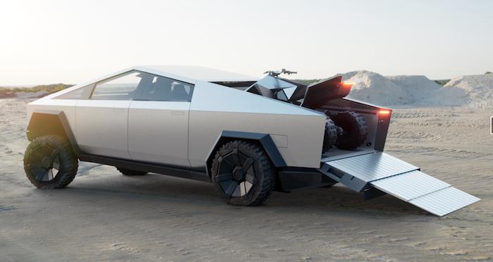 Elon Musk crée la surprise en présentant un quad lors de l'événement Cybertruck