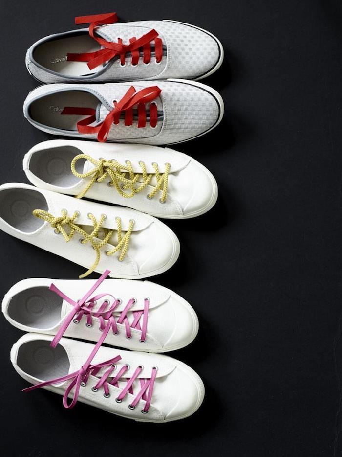 Lacets colorés personnaliser ses chaussures, idée originale pour customiser ses chaussures