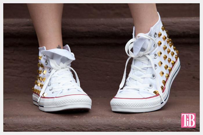 Converse blanche idée personnaliser chaussure, inspiration basket personnalisée