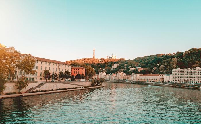 visite à Lyon, quels endroits visiter quand on est au sud-est de France, photo de coucher de soleil à Lyon