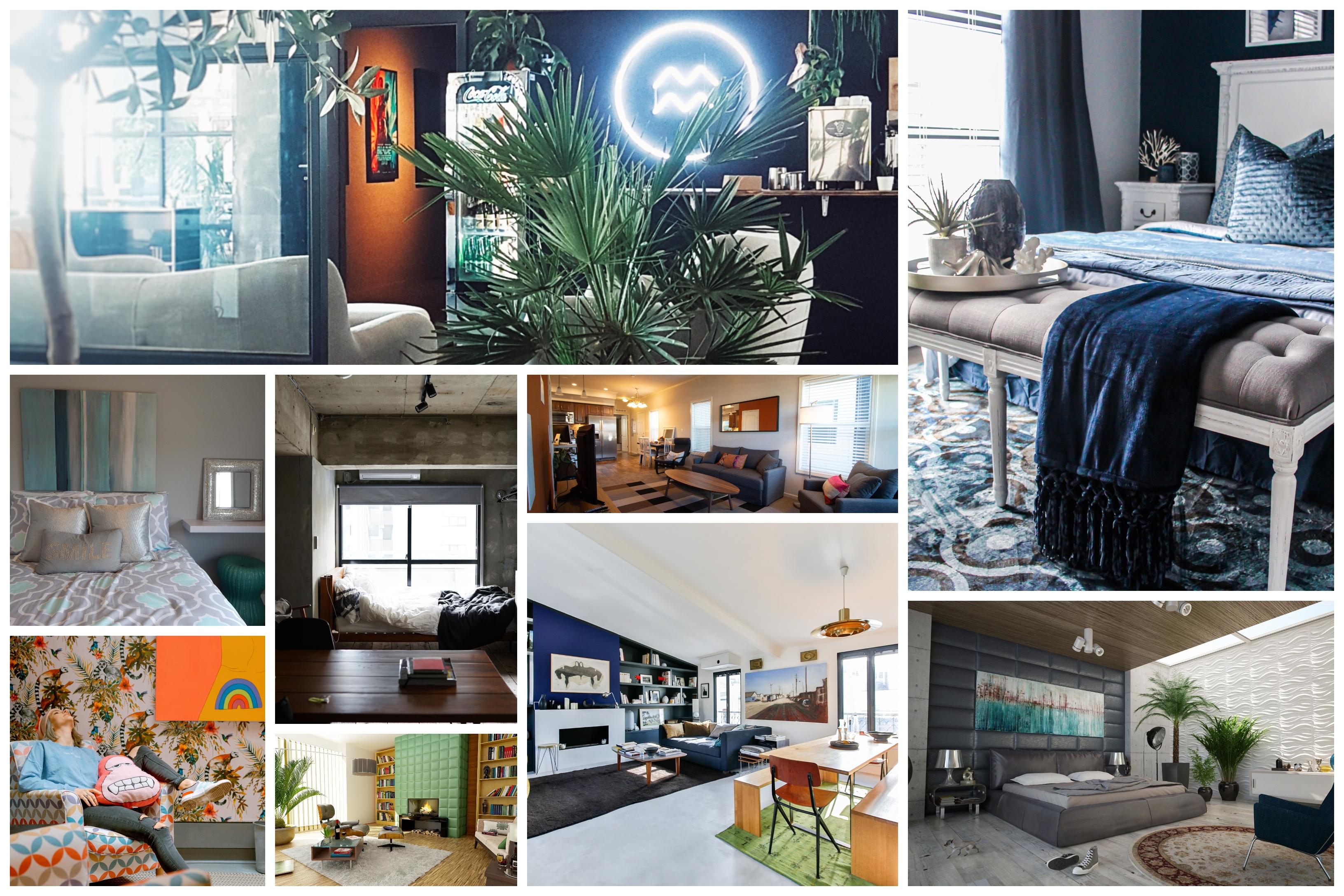 Idée en collage comment peindre une chambre en deux couleurs, couleur peinture chambre en deux couleurs pour effet plus original et moderne