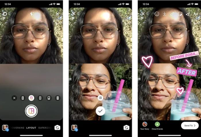 La nouvelle fonction Composition d'Instagram permet de poster plusieurs photos dans une seule story