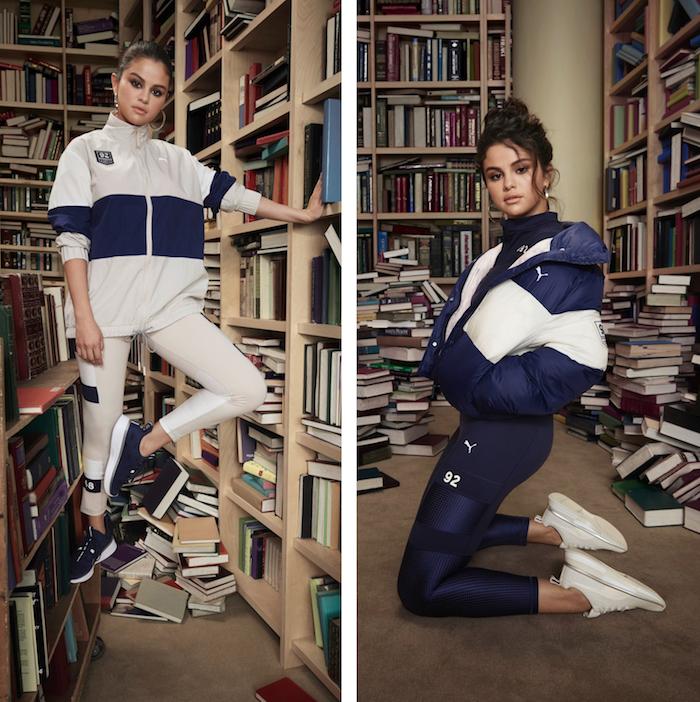 Une collection de running Puma par Selena Gomez inspirées des sports collectifs comme le rugby et le hockey