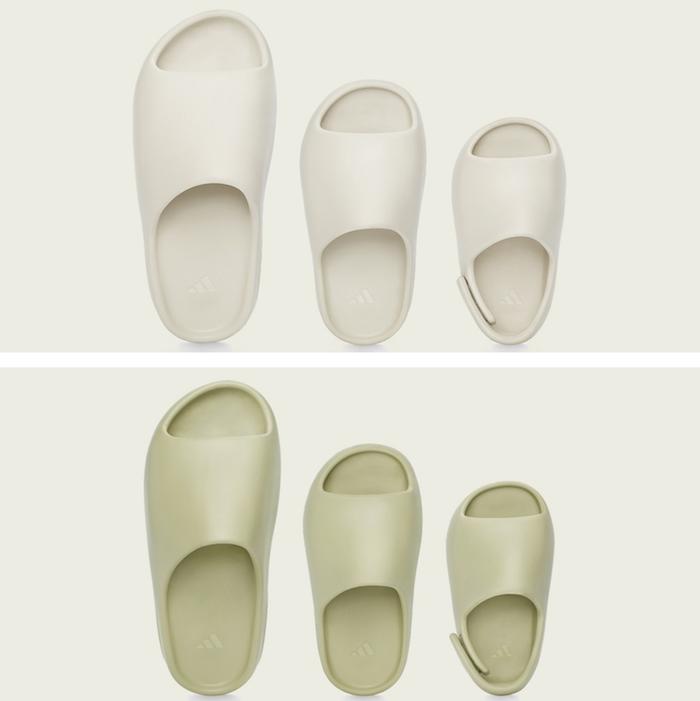 Destinée aux adultes, enfant et bébé, la sandale Yeezy Slide conue par adidas et Kanye West sera disponible en ligne ce 6 décembre