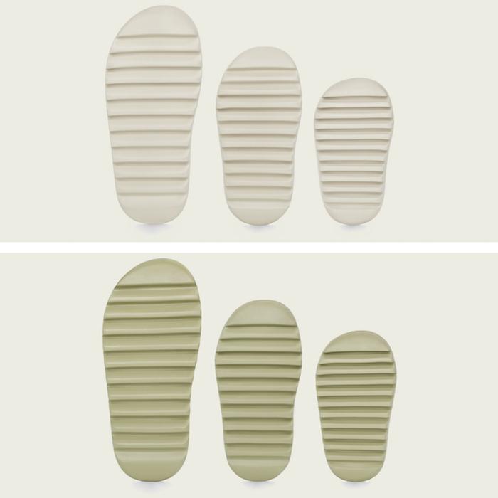 Adidas et Kanye West ont dévoilé la claquette Yeezy Slide, déclinée en couleurs Desert Sand, Bone et Resin