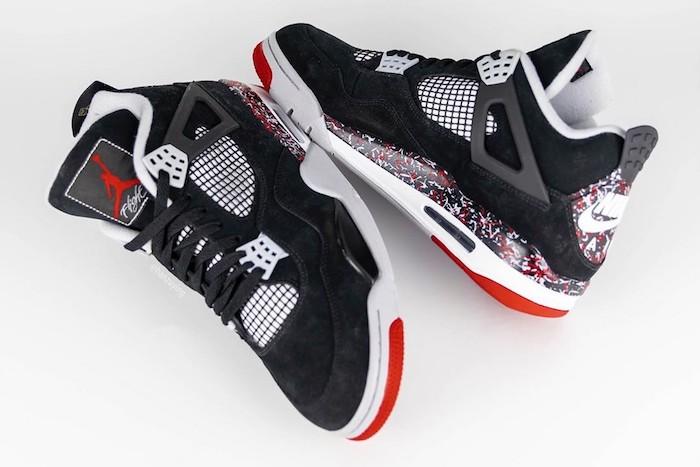 Les nouvelles Air Jordan 4 Splatter issues de la collaboration avec Drake et Ovo se dévoilent