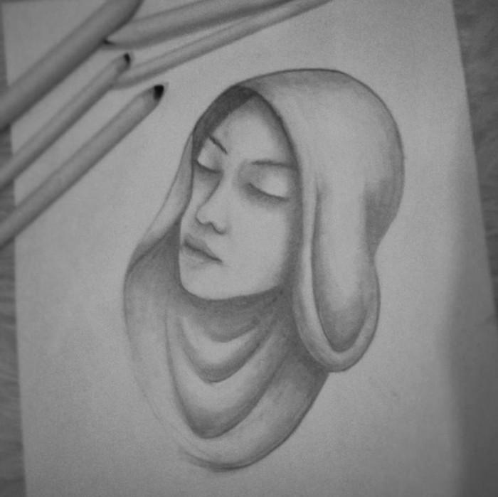 exemple de dessin tres facile à reproduire soi-même, idée de loisir créatif à petit budget en forme de dessin au crayon