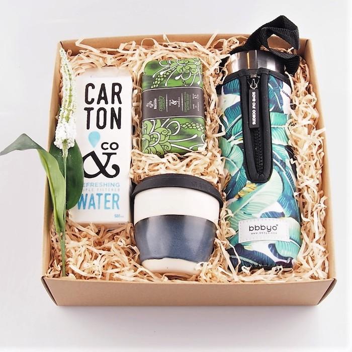 Boite d'eau réutilisable, idée cadeau zéro déchet, cadeau zéro dechet, cadeau ecolo