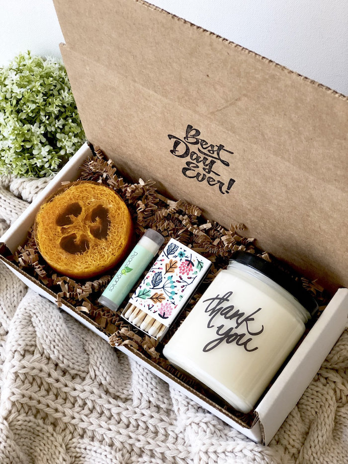 Bougie aromatique qui dit merci, adorable cadeau de noel fait maison, originale idée cadeau expérience