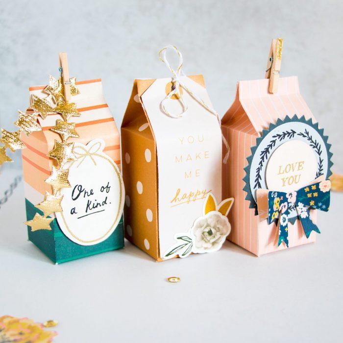 Boîte joliment décoré avec un petit cadeau zero waste, inspiration panier garni a composer soi meme, cadeau bio homme