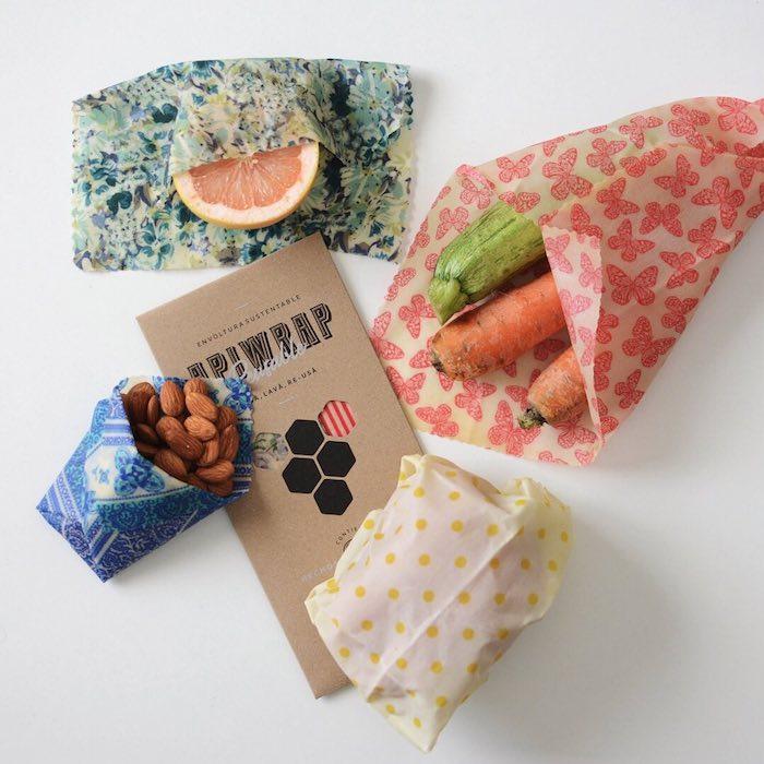 Apiwrap papier en sir des abeilles, cadeau de noel a fabriquer facile, cadeau eco responsable