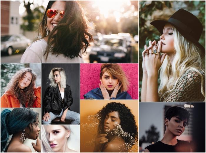 Collage coiffure fille, tendance de coiffure 2020, quelle coupe de cheveux pour moi