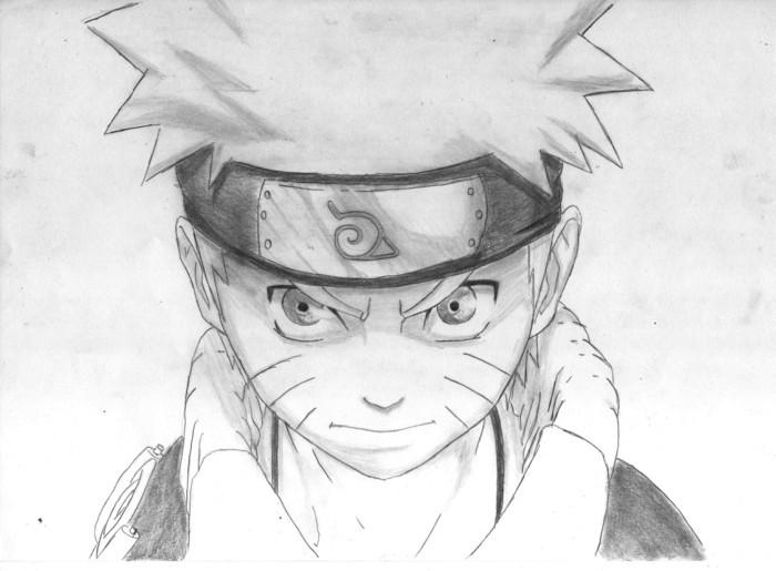 apprendre à dessiner un personnage Mange facile, idée de dessin facile a faire pour débutants, dessin Naruto au crayon