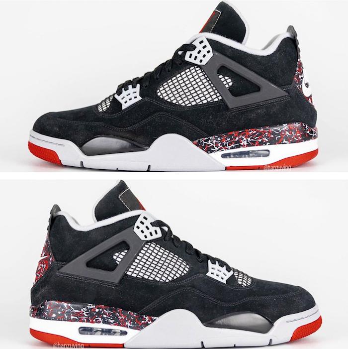 Les premières images de la nouvelle collab entre Drake et Nike OVO x Air Jordan 4 version Splatter