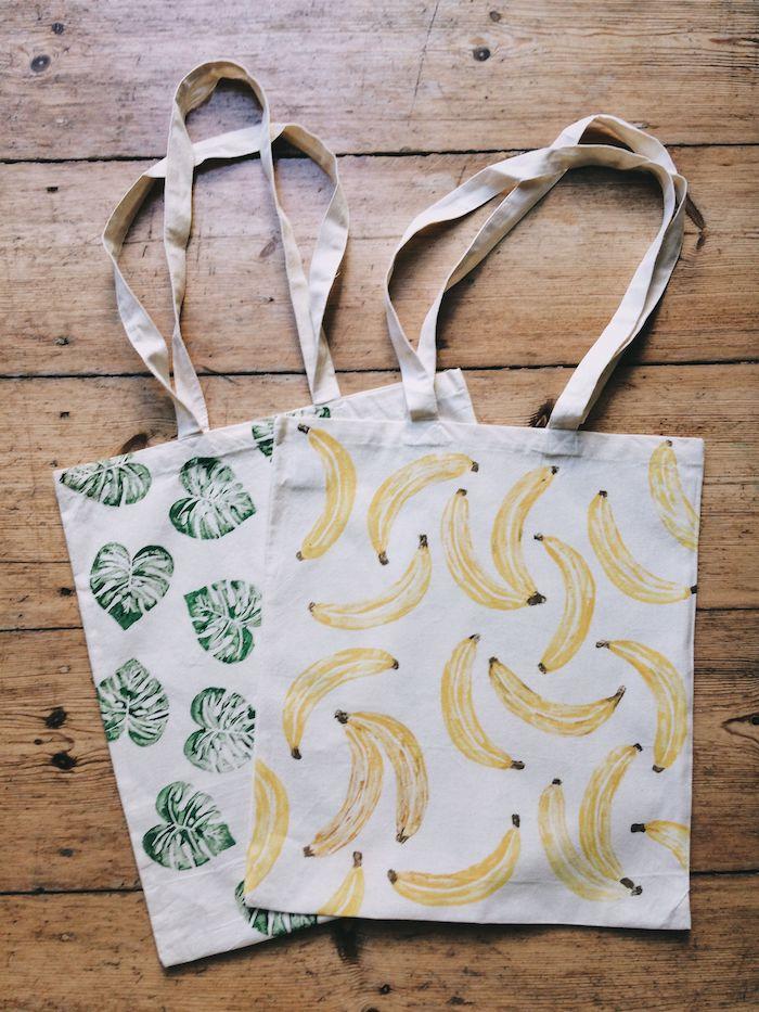 Tote sac à main tissu, cadeau fete des peres a fabriquer, les meilleures cadeaux