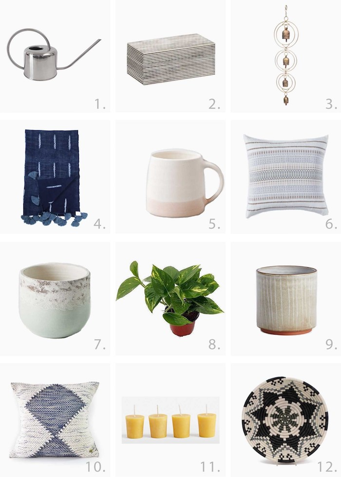 Une plante verte ou un coussin en tissu recyclé, cadeau fait maison, coffret pour débutant zero dechet original