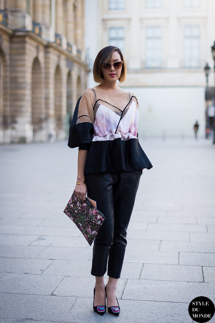 Chriselle Lim style streetwear femme, tenue swag hip hop street style blogueuse