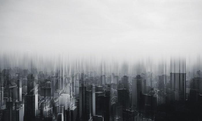 Art graphique fond d'écran noir et gris, photo de noir batiments silhouettes, image fond d'écran blanc