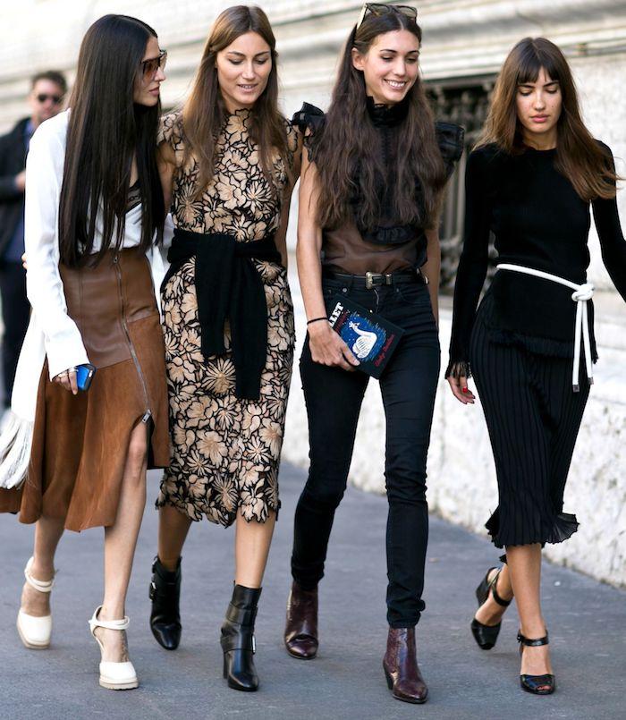 Femmes bien habillées, amies look tendance, tenue de sport, vetement streetwear feminine