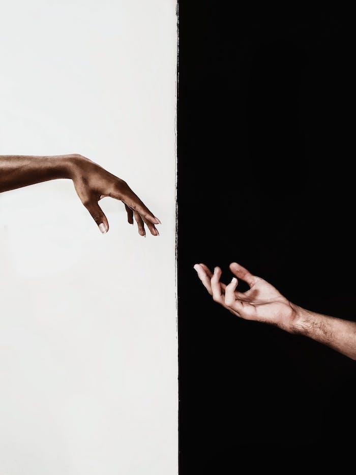 In et yan harmonie couleurs, idée portrait noir et blanc, fond d'écran noir, fond sombre
