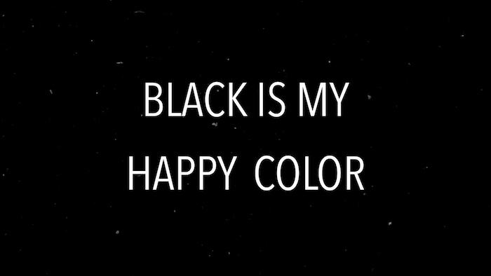 Citation pour la couleur noire, c'est ma couleur de joie, beau fond d'écran blanc, photo noir et blanc paysage