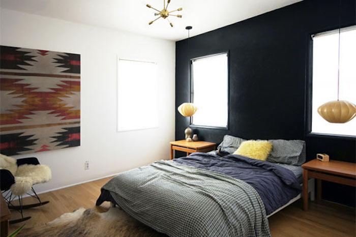 Décoration murale originale, idee deco chambre adulte zen, quelle couleur chambre adulte choisir