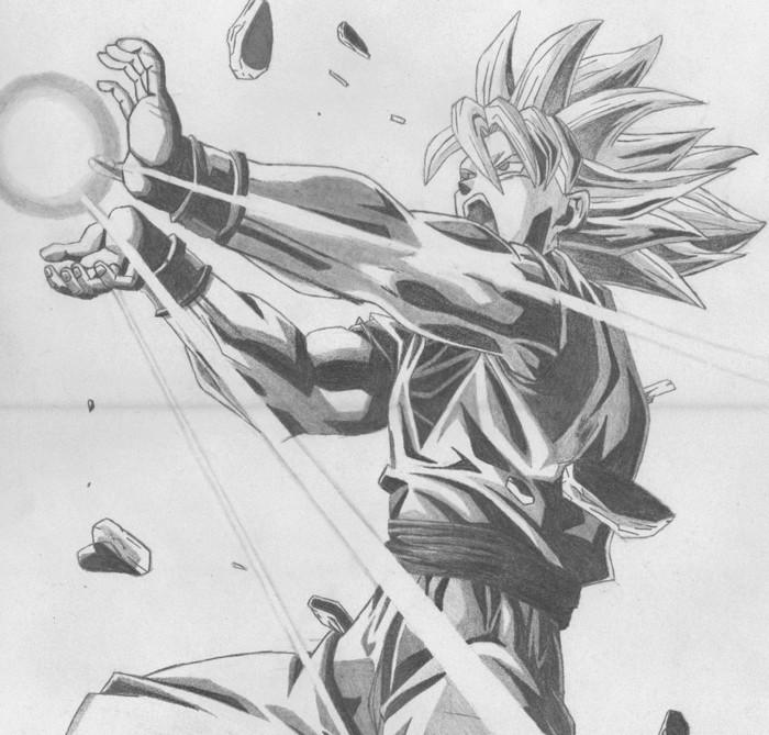 idée de dessin compliqué à réaliser au crayon à l'aide de la technique d'ombrage, dessin personnage animé