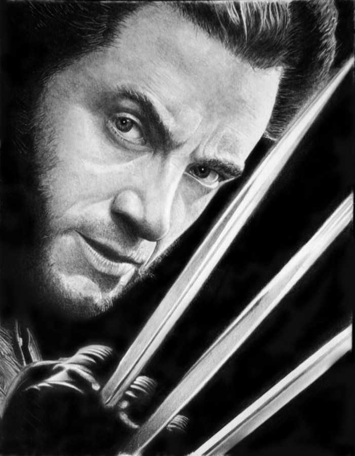 apprendre a dessiner portrait débutant, dessin réaliste au crayon d'un visage masculine, dessin en détails au crayon