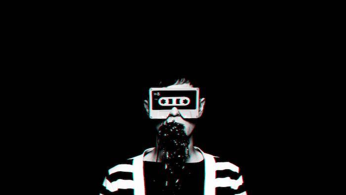 Cool fond ecran abstrait homme avec cassette pour yeux, faire une photo fond ecran swag