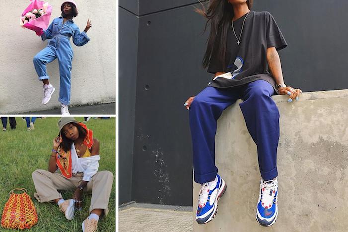Collage style vestimentaire femme, beauté et mode style de rue