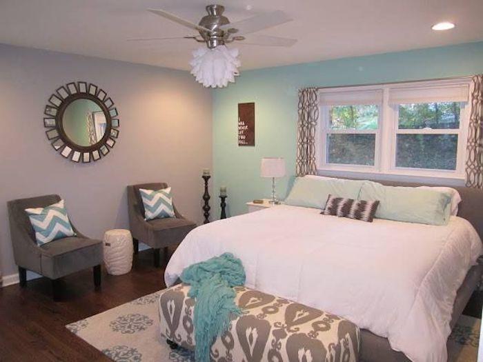 Peindre une chambre en deux couleurs pour un espace stylé ...